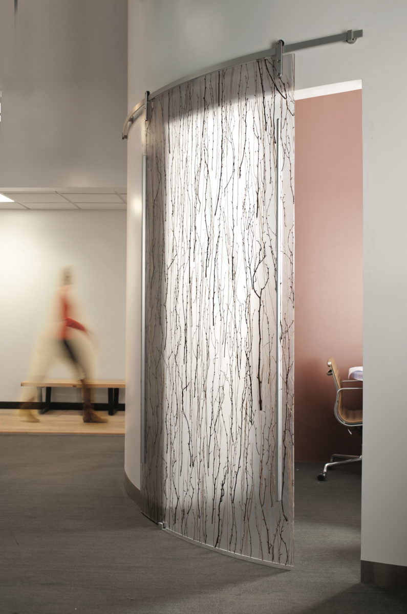 Varia Birch Custom Curved Sliding Door